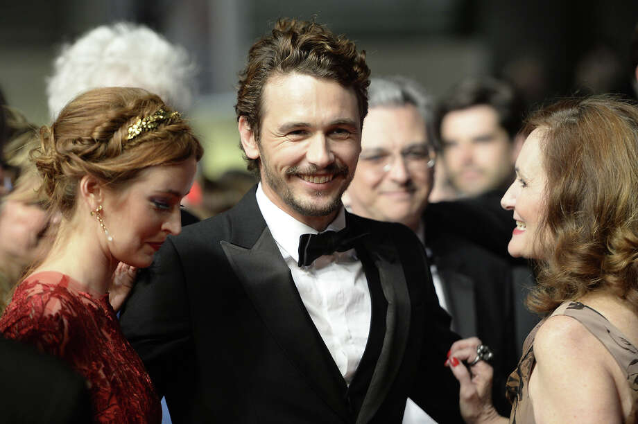 "(From L) US actress Ahna O'Reilly, director and actor James Franco and actress Beth Grant arrive on May 20, 2013 for the screening of the film ""As I Lay Dying"" presented in the Un Certain Regard section at the 66th edition of the Cannes Film Festival in Cannes. Cannes, one of the world's top film festivals, opened on May 15 and will climax on May 26 with awards selected by a jury headed this year by Hollywood legend Steven Spielberg. Photo: ANNE-CHRISTINE POUJOULAT, AFP/Getty Images / 2013 AFP"