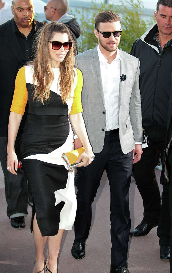 Jessica Biel and Justin Timberlake sighted leaving Le Grand Journal studio during The 66th Annual Cannes Film Festival on May 20, 2013 in Cannes, France. Photo: Mark Robert Milan, FilmMagic / 2013 FilmMagic