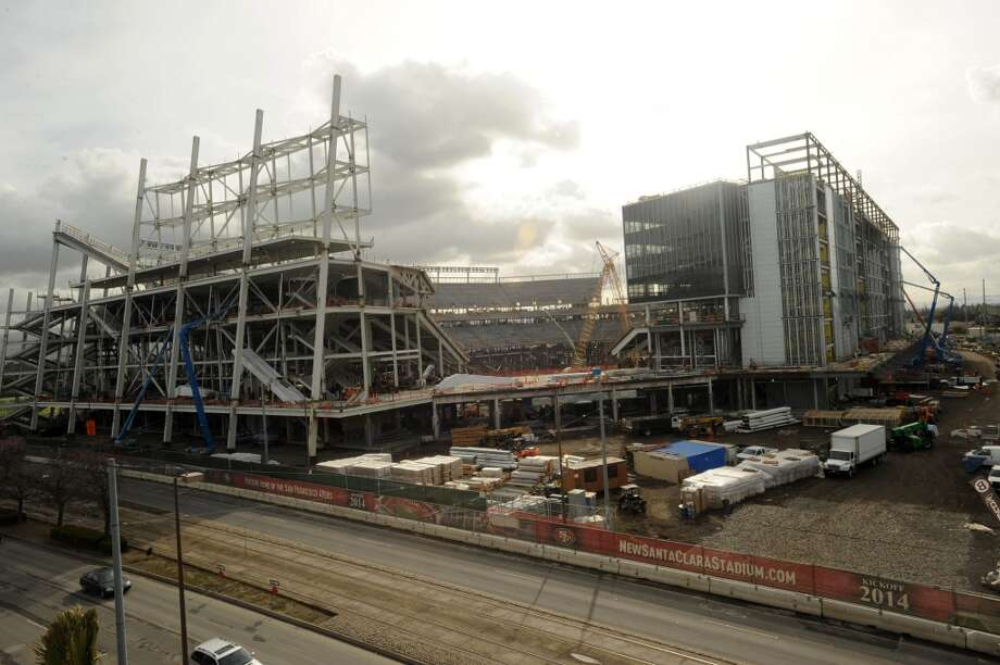 A view of the new 49ers stadium in Santa Clara is seen on March 6, 2013.