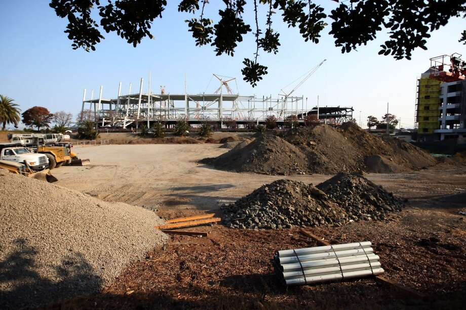 Construction underway at the new Santa Clara stadium for the San Francisco 49ers on Tuesday, September 25, 2012.