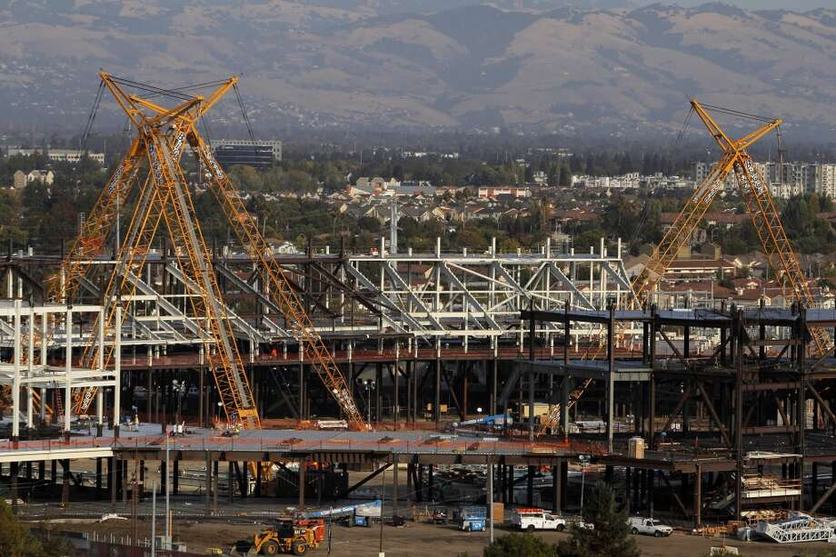 A view of stadium construction from Sept. 2012. The stadium is scheduled to open in 2014.