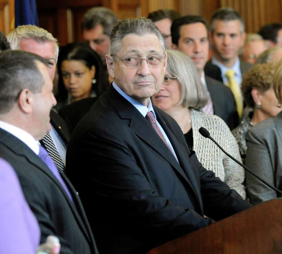 New York Assembly Speaker Sheldon Silver, D-Manhattan, prepares to speak at a news conference at the Capitol in Albany, N.Y., on Monday, May 20, 2013. A published report says a member of the Assembly's Democratic conference is calling on Silver to resign over his role in a sexual harassment scandal. (AP Photo/Tim Roske) Photo: Tim Roske