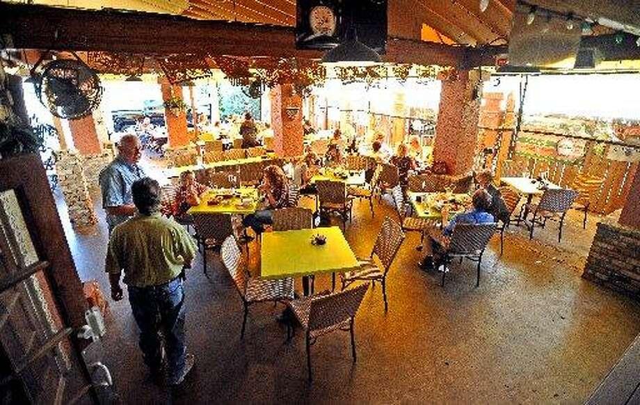 The patio at Cafe Del Rio