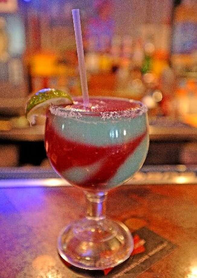 The Swirl Margarita at Cafe Del Rio