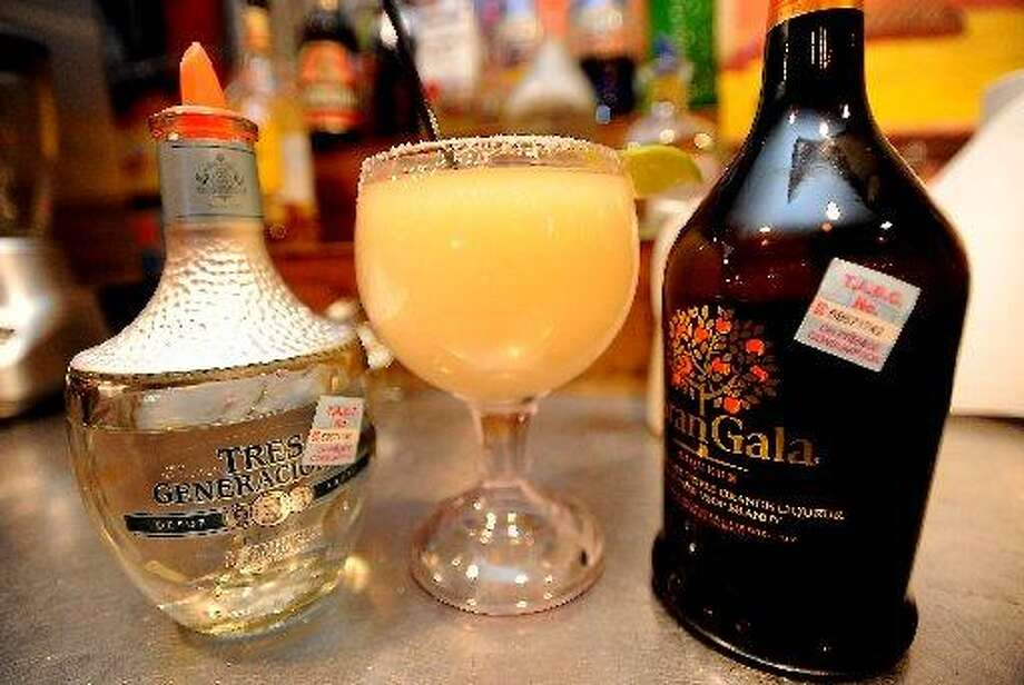 Tres Generaciones and Gran Gala are used in making the 3G Margarita at Cafe Del Rio