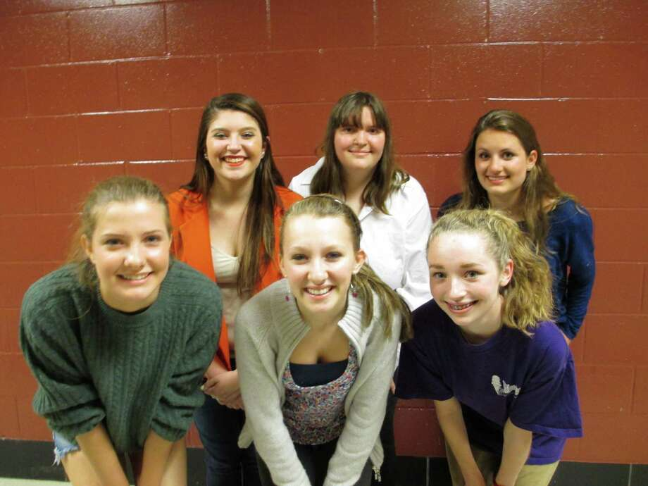 The Drama Festival winners are, in back row from left, Lizzy Emond, Molly Festo and Ariana Ross; front row, Rachel Guth, Nancy Leville and Lillian Engel. Photo: Contributed