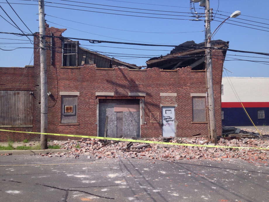 A roof collapse at 40 River Street has led to a partial closeing of the street. Photo: Contributed Photo / Connecticut Post Contributed