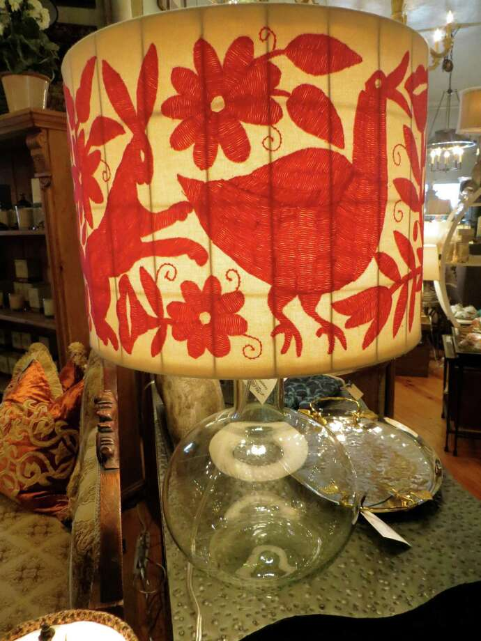 518 Austin Highway: This beautiful hunter lamp, $550, is available at 5 Broads Off Broadway. Photo: Jennifer Rodriguez