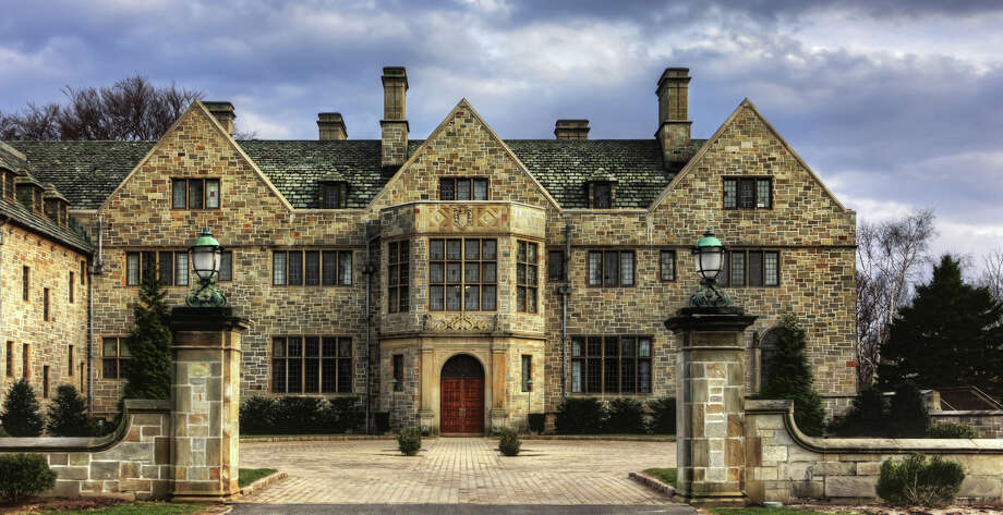 "Bellarmine Hall, one of Fairfield University's signature structures, was built in 1920 as ""Hearthstone Hall,"" the main house on the Lashar estate. The Jesuits got a heavenly deal on the entire estate when they bought it from the town in 1942. Photo: Contributed Photo / Fairfield Citizen contributed"