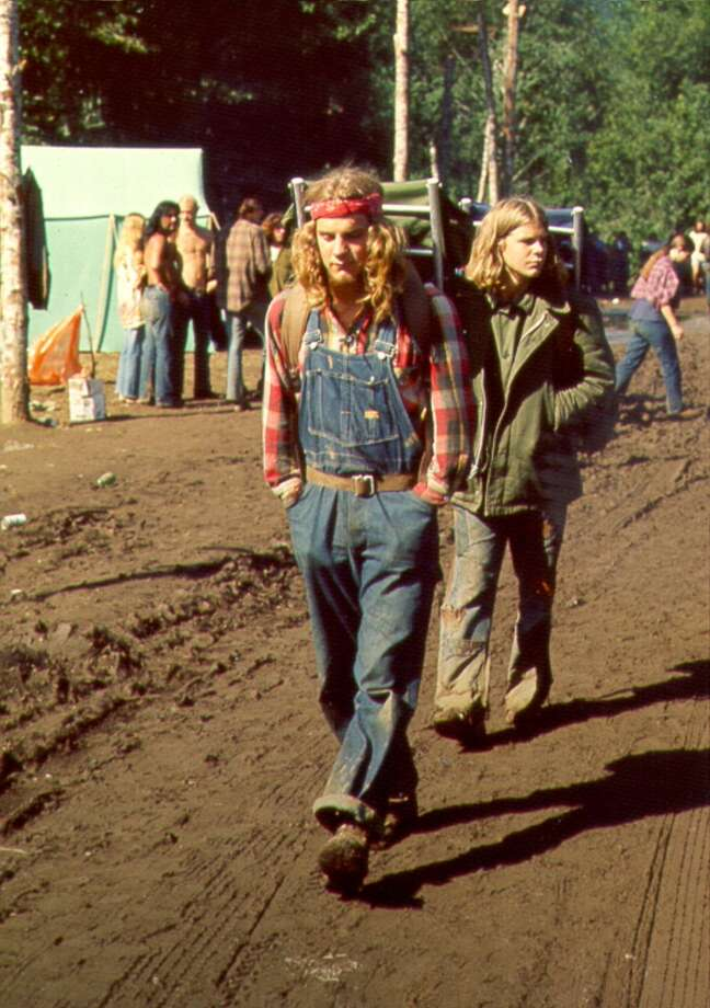 Photo of Hippies in 1970.