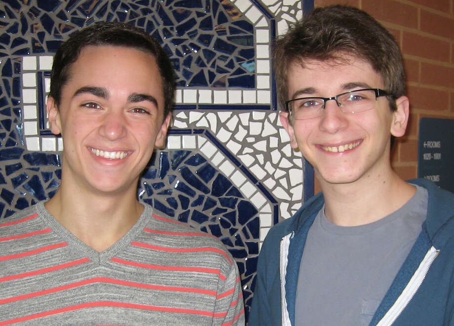 Staples High School seniors Tyler Jent, left, and Jake Landau recently received awards from the National YoungArts Foundation. Photo: Contributed Photo