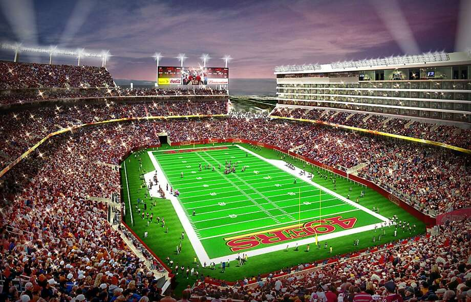 The 49ers' $1.2 billion Santa Clara stadium, scheduled to open for the 2014 season, was a big selling point. Photo: Anonymous, Associated Press