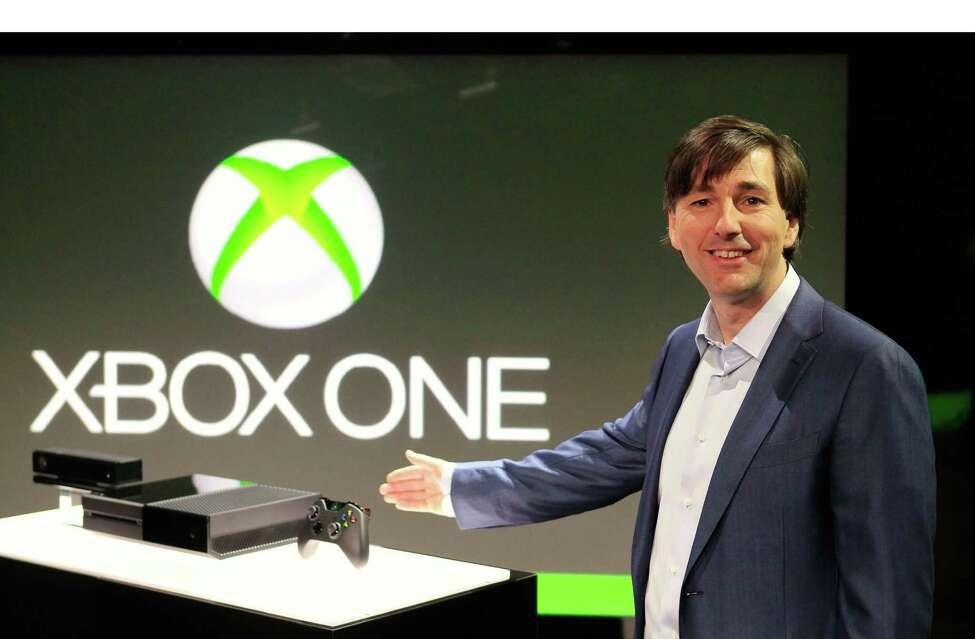 Don Mattrick, president of Microsoft Corp.'s Interactive Entertainment Business, reveals Xbox One, the all-in-one games, TV and entertainment system, at the company's headquarters in Redmond, Wash. (PRNewsFoto/Microsoft Corp.)