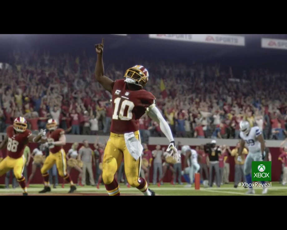 Screen shot from Madden NFL during the Xbox One reveal.