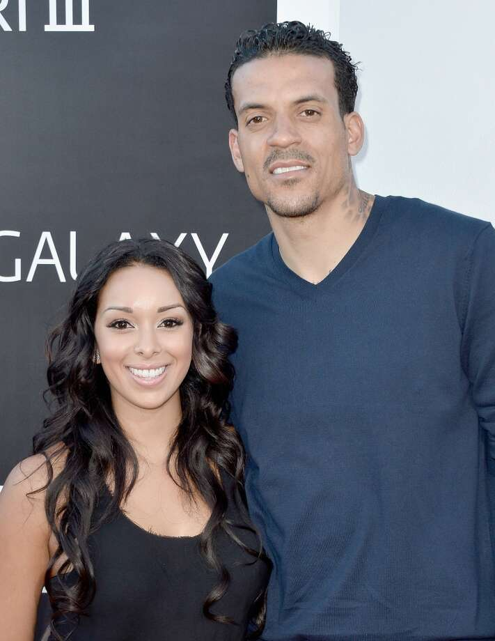 "WESTWOOD, CA - MAY 20:  TV personality Gloria Govan and NBA player Matt Barnes attend the premiere of Warner Bros. Pictures' ""Hangover Part 3"" at Westwood Village Theater on May 20, 2013 in Westwood, California.  (Photo by Frazer Harrison/Getty Images)"