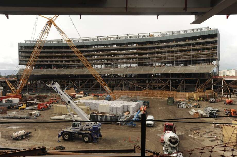 The new luxury suites are being built at the new 49ers stadium in Santa Clara. Photo: Susana Bates, Special To The Chronicle