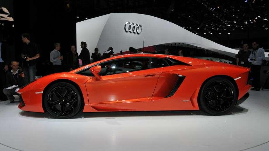 Lamborghini Aventador: 220 mph, 0-60 in 2.9 secs.