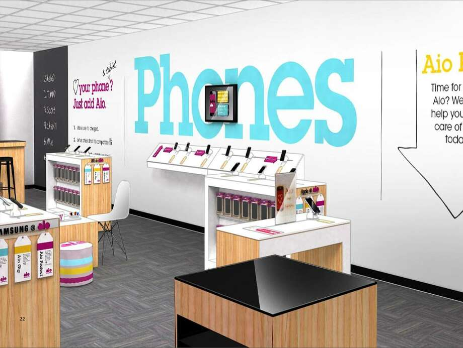 Rendering of a new Aio prepaid mobile store. Houston is a pilot city for the new AT&T-owned venture. Photo: Handout