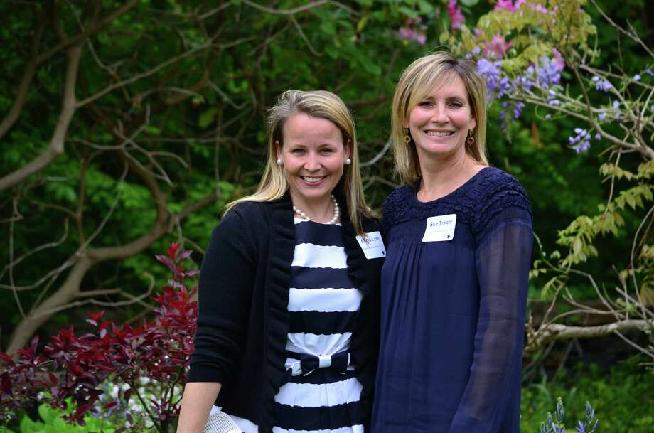 Alicia Lyon (at left) and Sue Trager were recognized for their volunteer work with the Royle Elementary School at the 34th annual Darien Volunteer Recognition Day on Friday, May 17. Photo: Megan Spicer