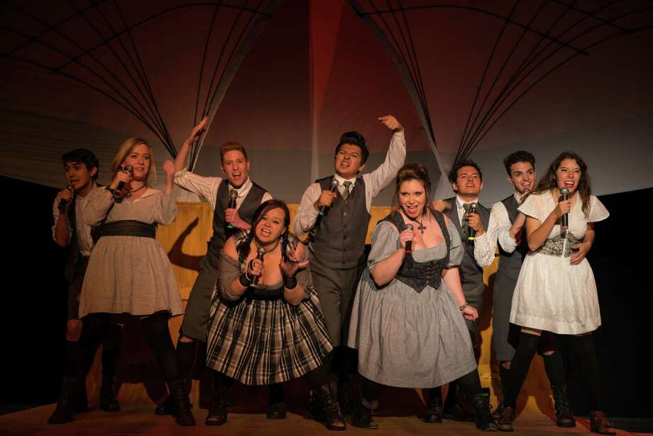 """The teens of """"Spring Awakening"""" rock out in the Playhouse production. An 1890 play inspired the musical but the subject matter remains current. Photo: Courtesy Siggi Ragnar"""