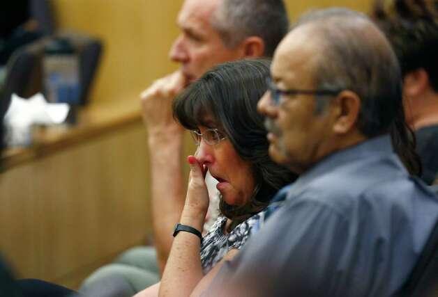 Sandra Arias, mother of Jodi Arias, wipes tears away as her daughter ...