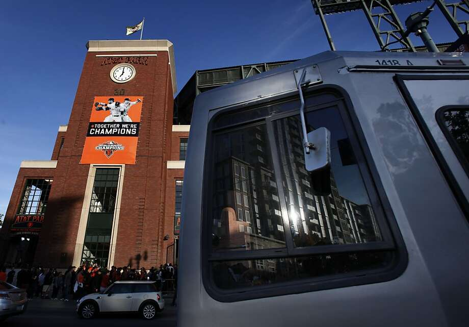 Tickets sold to Giants games at AT&T Park could be subject to a Muni surcharge under Supervisor Scott Wiener's plan. Photo: Carlos Avila Gonzalez, The Chronicle