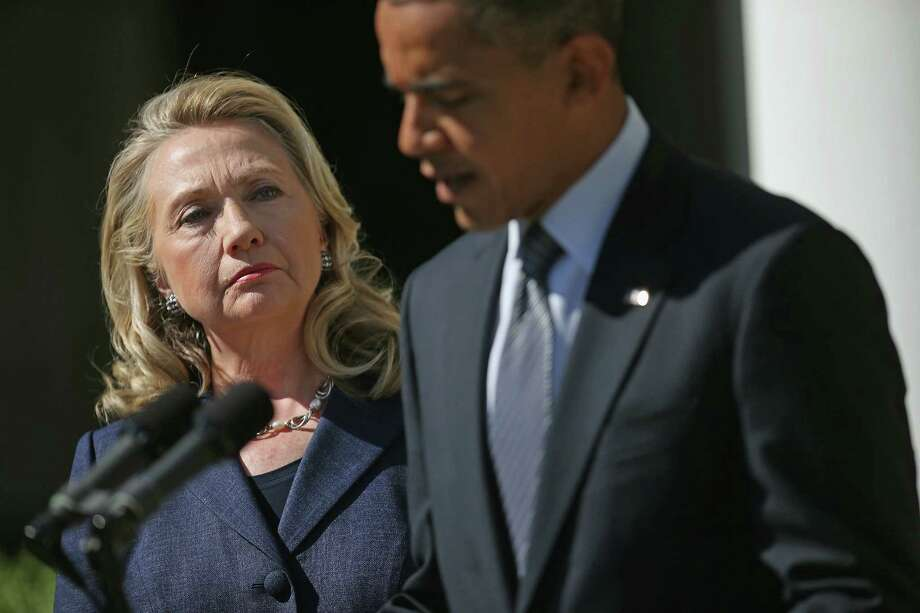 Hillary Clinton emerged stronger from scandals that plagued her and husband Bill Clinton. Will President Barack Obama's woes help smooth Hillary's path to the White House? Photo: Getty Images