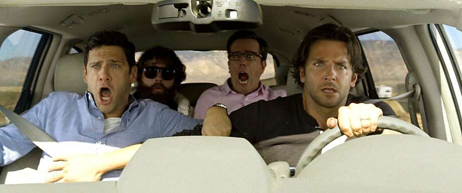 From top: The wolfpack - Justin Bartha, Zach Galifianakis, Ed Helms, Bradley Cooper - is back; Ken Jeong as Mr. Chow; John Goodman as Marshall. Photo: Courtesy Warner Bros. Pictures, Warner Bros.