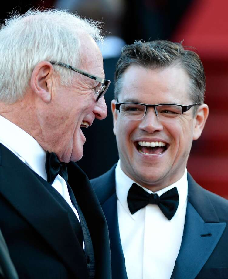 "CANNES, FRANCE - MAY 21:  (L-R) Producer Jerry Weintraub and Matt Damon attend the ""Behind The Candelabra"" Premiere during the 66th Annual Cannes Film Festival at Grand Theatre Lumiere on May 21, 2013 in Cannes, France.  (Photo by Pascal Le Segretain/Getty Images)"