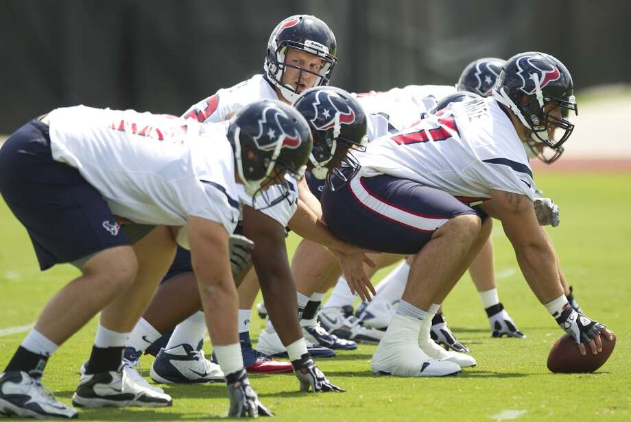 Texans quarterback T.J. Yates lines up under center.