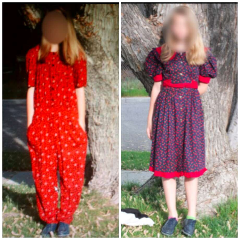 May 2013: A Utah fourth-grader named Kaylee was forced by her stepmother to wear unstylish thrift store clothes as punishment for criticizing another student's wardrobe. Photo: KTSU-TV/Fox