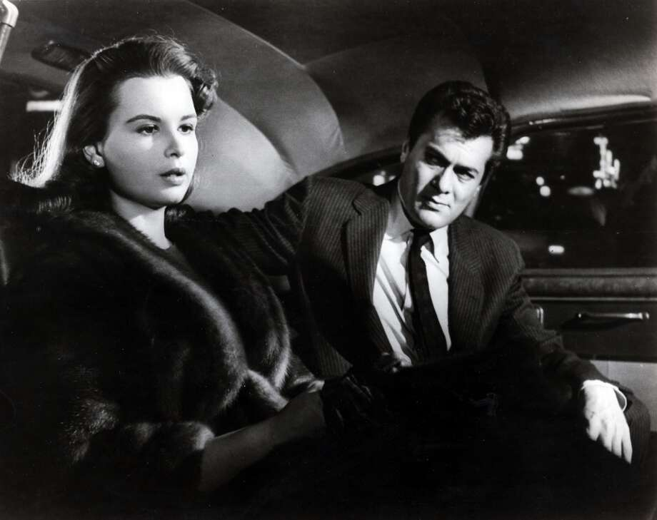 "Tony Curtis and Susan Harrison in ""Sweet Smell of Success."""