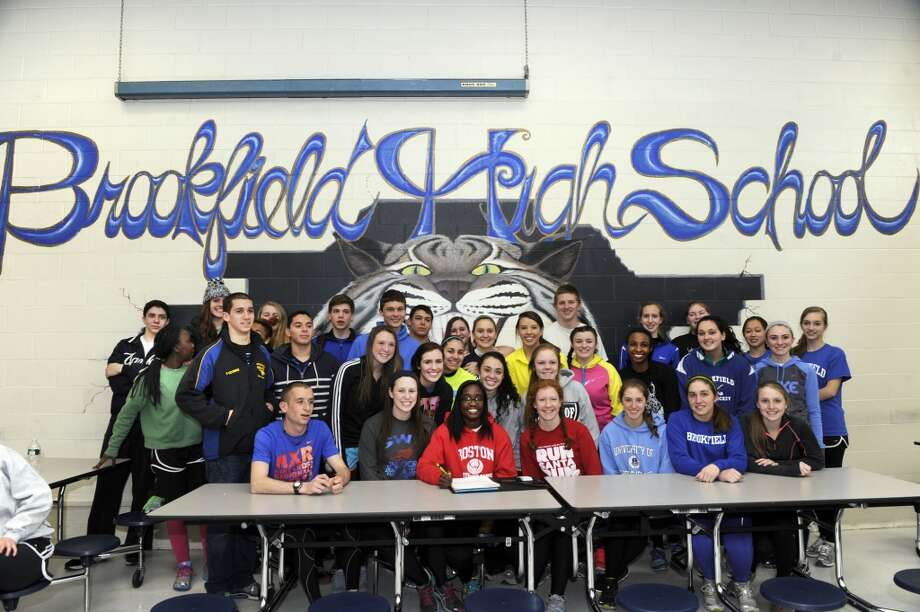 No. 23: BrookfieldIn 2010, the total expenditure per pupil here was $12,263, putting it near bottom for Southwestern Connecticut.  Brookfield High track star Djenne Parris, signs a National Letter of Intent to compete at Boston University, Monday, March 18, 2013, at Brookfield High School, in Brookfield, Conn.