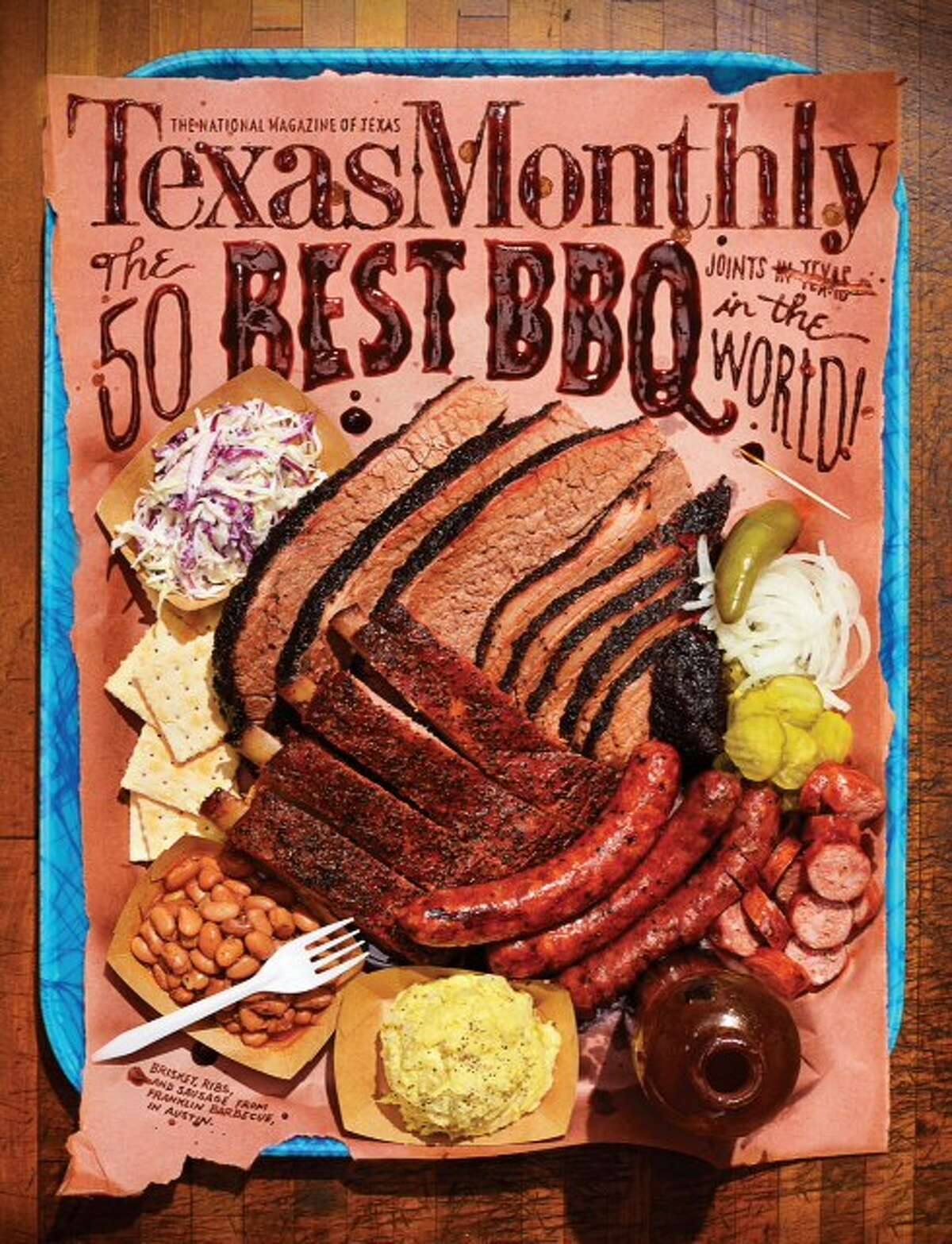 Pat Sharpe edits Texas Monthly's Barbecue Issue, on newsstands today.