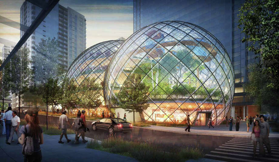 "Amazon describes its proposed South Lake Union biospheres as a ""more natural, park-like setting"" for employees.