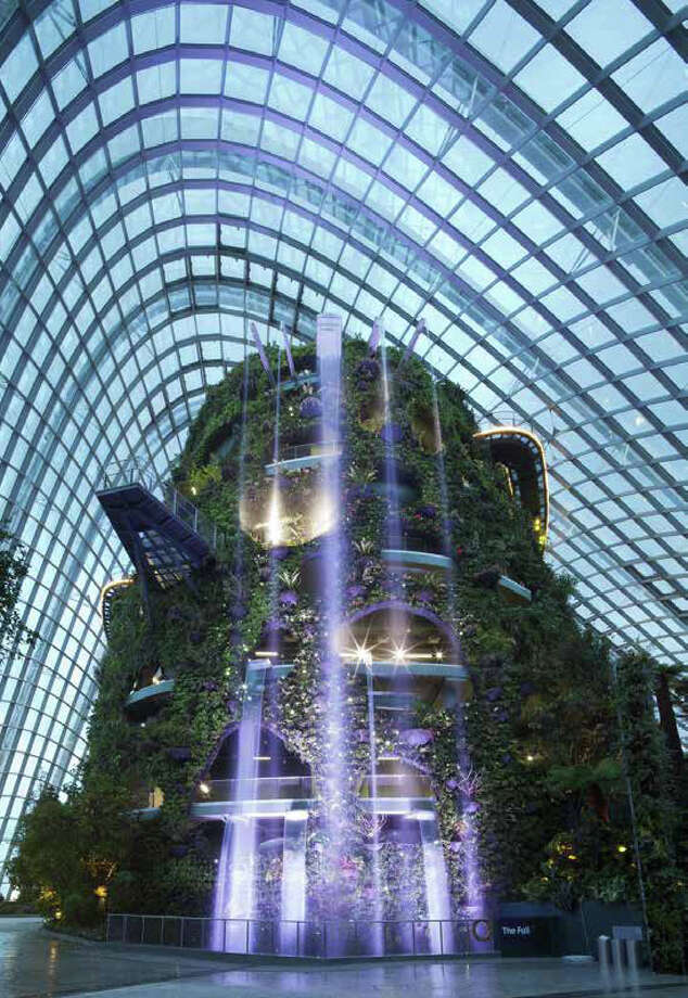 "Inspiration also came from Singapore's enclosed park, ""Gardens by the Bay."" Photo: NBBJ Via Amazon,  Seattle Design Review Board"