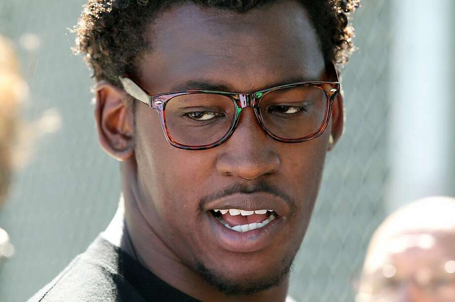 Aldon Smith, linebacker for the San Francisco 49ers, is seen at the team's practice facility in Santa Clara, Calif., on Tuesday, May 21, 2013. Photo: Lance Iversen, The Chronicle