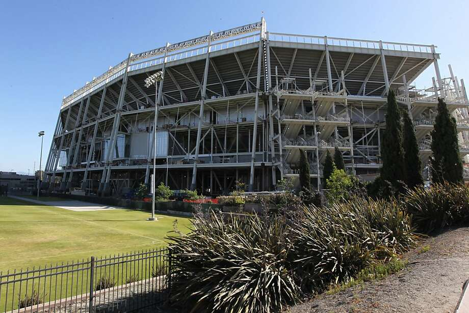 The 49ers are tackling the need for more parking at Levi's Stadium, which is scheduled to open in August in Santa Clara, by threatening to block Joe Montana's development project nearby. Photo: Lance Iversen, The Chronicle