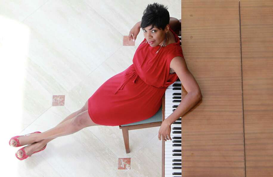 Jade Simmons, a Houston-based concert pianist, is photographed at Lyric Center on Friday, May 17, 20