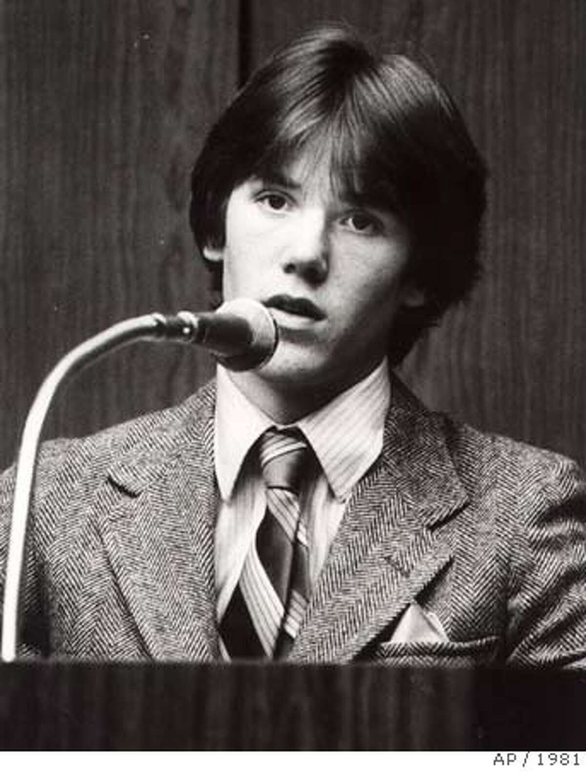 Steven Stayner testifies in 1981 about his abduction in 1972 by Kenneth Parnell and his seven years in captivity. Stayner died in a motorcycle accident in 1989.