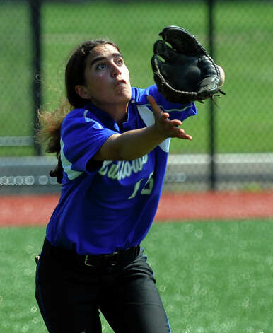 Fairfield Ludlowe's Gillian Kennedy, during FCIAC Softball Championship semi-final action against New Canaan at Sacred Heart University in Fairfield, Conn. on Tuesday May 21, 2013. Photo: Christian Abraham / Connecticut Post