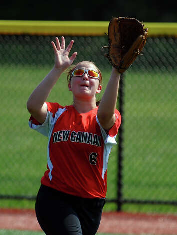New Canaan's Rachel Kortman, during FCIAC Softball Championship semi-final action against Fairfield Ludlowe at Sacred Heart University in Fairfield, Conn. on Tuesday May 21, 2013. Photo: Christian Abraham / Connecticut Post