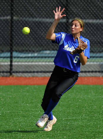 Fairfield Ludlowe's Aliza Guerrero, during FCIAC Softball Championship semi-final action against New Canaan at Sacred Heart University in Fairfield, Conn. on Tuesday May 21, 2013. Photo: Christian Abraham / Connecticut Post