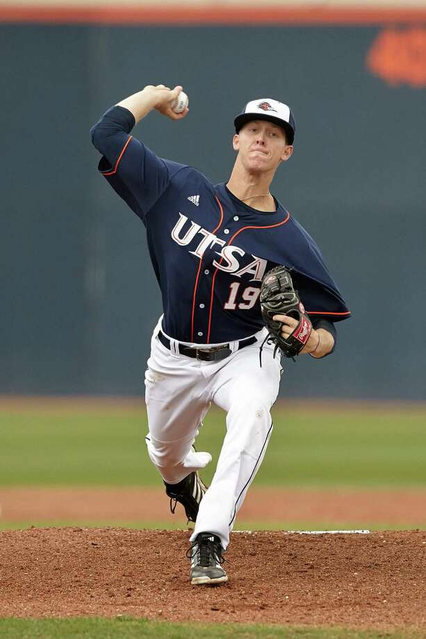 Brock Hartson set a UTSA school record for victories by a freshman pitcher this season after recovering from elbow reconstruction surgery, which he had in February 2012. Photo: Jeff Huehn / UTSA Athletics
