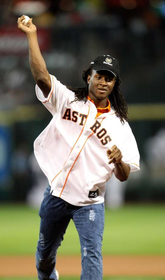 May 21: Royals 7, Astros 3Texans 1st-round draft pick DeAndre Hopkins  throws out the first pitch.