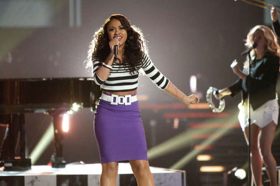 "THE VOICE -- Episode 415A ""Live Show"" -- Pictured: Sasha Allen -- Photo: NBC, Tyler Golden/NBC / 2013 NBCUniversal Media, LLC"