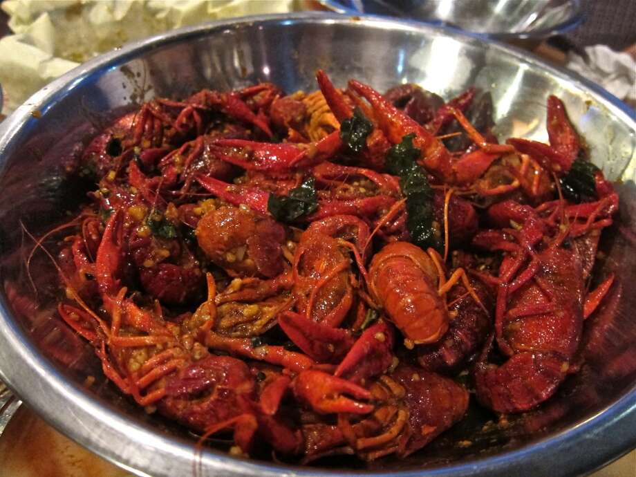 Spicy Thai Basil crawfish boil at Cajun Kitchen Photo: Alison Cook, Houston Chronicle