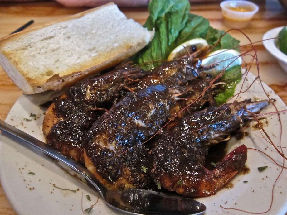 New Orleans BBQ shrimp at Cajun Kitchen. Photo: Alison Cook, Houston Chronicle