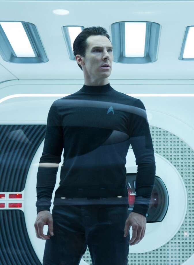 "Benedict Cumberbatch as John Harrison in a scene in the movie, ""Star Trek Into Darkness.'"