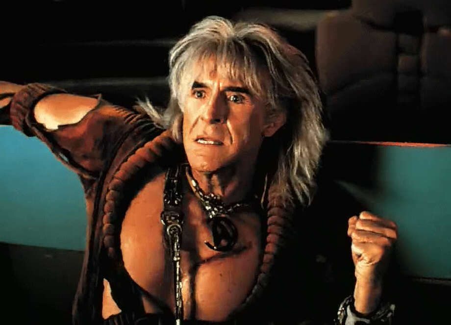 "Ricardo Montalban as the villain Khan  in ""Star Trek II: The Wrath of Khan."""